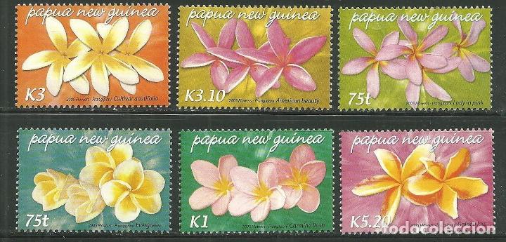 PAPUA Y NUEVA GUINEA 2005 IVERT 1045/50 *** FLORA - FLORES DE FRANGIPANI (Sellos - Temáticas - Flora)