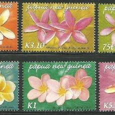 Sellos: PAPUA Y NUEVA GUINEA 2005 IVERT 1045/50 *** FLORA - FLORES DE FRANGIPANI. Lote 150802470