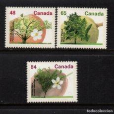 Sellos: CANADA 1225/27** - AÑO 1991 - FLORA - ARBOLES DEL CANADA. Lote 151410650