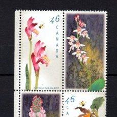 Sellos: CANADA 1658/61** - AÑO 1999 - FLORA - FLORES - ORQUIDEAS. Lote 151415286
