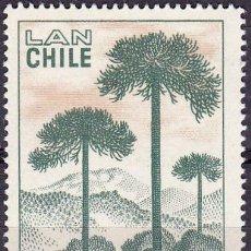 Sellos: 1967 - CHILE - CAMPAÑA NACIONAL FORESTAL - PINO ARAUCANO - YVERT PA 239. Lote 151567998