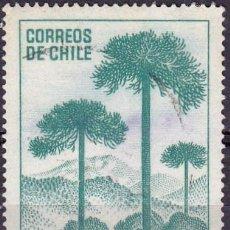 Sellos: 1967 - CHILE - CAMPAÑA NACIONAL FORESTAL - PINO ARAUCANO - YVERT 319. Lote 151568034