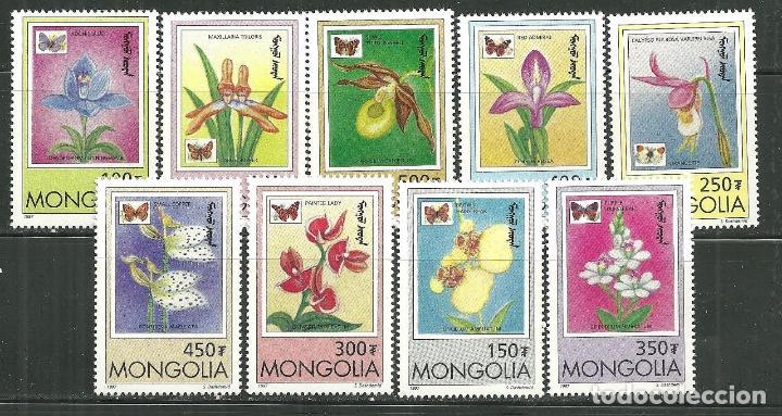 MONGOLIA 1997 IVERT 2123/31 *** FLORA Y FAUNA - ORQUIDEAS Y MARIPOSAS (Sellos - Temáticas - Flora)