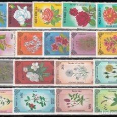 Sellos: MONGOLIA, 1985 - 1988 LOTE DE SELLOS, FLORES, . Lote 157541946