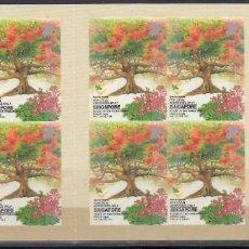 Sellos: SINGAPUR, 2002 YVERT Nº C1138, ARBOLES, FLORES, FRUTOS, . Lote 157941806