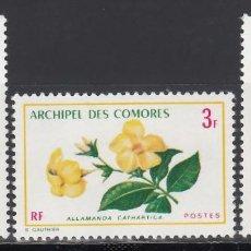 Sellos: ARCHIPIÉLAGO DE COMORES, 1971 YVERT Nº 69 / 71 /**/, FLORES. . Lote 158331898