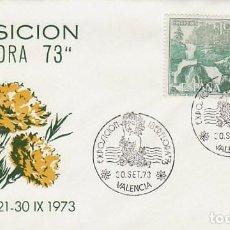 Sellos: AÑO 1973, VALENCIA, IBERFLORA, SOBRE DE ALFIL, CLAVELES AMARILLOS. Lote 159231374