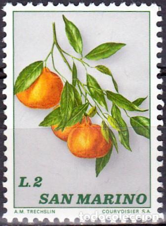 1973 - SAN MARINO - FRUTA - NARANJAS MANDARINAS - YVERT 838 (Sellos - Temáticas - Flora)