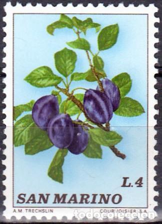 1973 - SAN MARINO - FRUTA - CIRUELAS - YVERT 840 (Sellos - Temáticas - Flora)