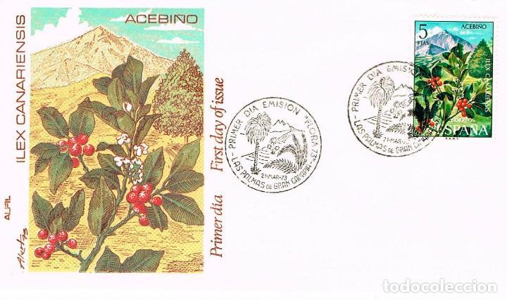 EDIFIL Nº 2123, ACEBIÑO, TARJETA MAXIMA DE PRIMER DIA DE 21-3-1973, ALFIL (Sellos - Temáticas - Flora)