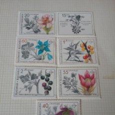 Sellos: SELLOS R. BULGARIA NUEVOS/1991/PLANTAS MEDICINALES/FRUTOS/FLORES/FLORA/NATURALEZA/PULSATILLA//. Lote 162584388