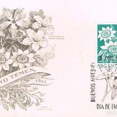 Sellos: ARGENTINA 800, FLOR DE LA PASION (PASIONARIA), PRIMER DIA DE 3-12-1960 . Lote 163773122