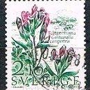 Sellos: SUECIA IVERT 1406, GENCIANA, USADO. Lote 165118686