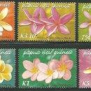 Sellos: PAPUA Y NUEVA GUINEA 2005 IVERT 1045/50 *** FLORA - FLORES DE FRANGIPANI. Lote 165463422
