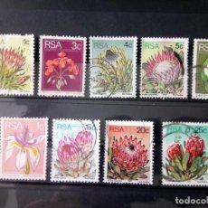 Sellos: FLORES, LOTE DE SELLOS DE SUDÁFRICA . Lote 165499354