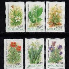Timbres: MOLDAVIA 71/76** - AÑO 1993 - FLORA - FLORES. Lote 165644874