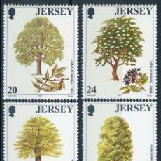 Sellos: JERSEY 1997 IVERT 793/8 *** 60º ANIVERSARIO ASOCIACIÓN - MEN OF THE TREES - FLORA - ARBOLES. Lote 166131098