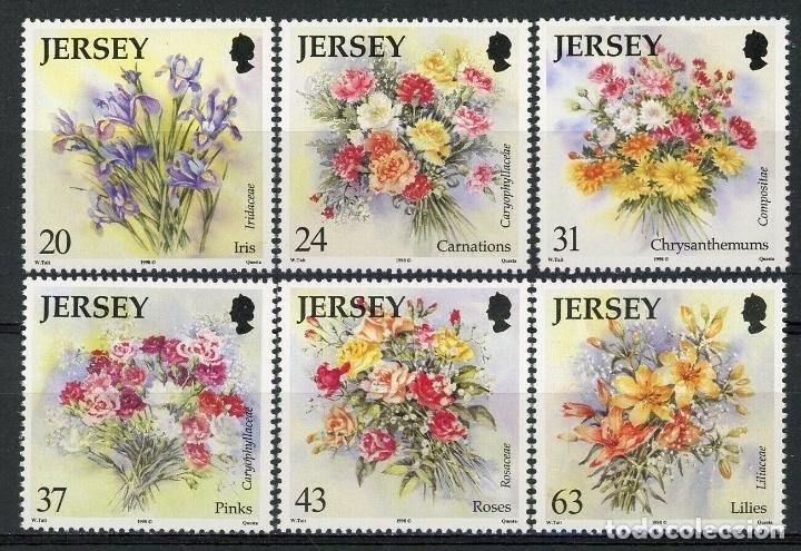 JERSEY 1998 IVERT 854/9 *** FLORES DE JERSEY - FLORA (Sellos - Temáticas - Flora)