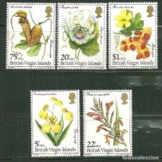 Sellos: VIRGIN ISLAND BRITANICA 1981 SC 401/05 *** FLORA - FLORES DIVERSAS. Lote 168073300