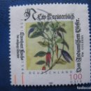 Sellos: ALEMANIA, 2001 TEMA FLORA. Lote 168290932