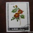 Sellos: ARABIA SUDESTE,AJMAN, TEMA FLORA . Lote 168329544
