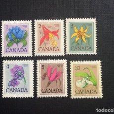 Sellos: CANADA Nº YVERT 625/0*** AÑO 1977. FLORES SALVAJES DE CANADA. Lote 178141915