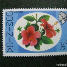 Sellos: DOMINICA, HIBISCUS, TEMA FLORA. Lote 168791308