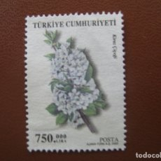 Timbres: TURQUIA, 2003* SELLO USADO, TEMA FLORA. Lote 170342696