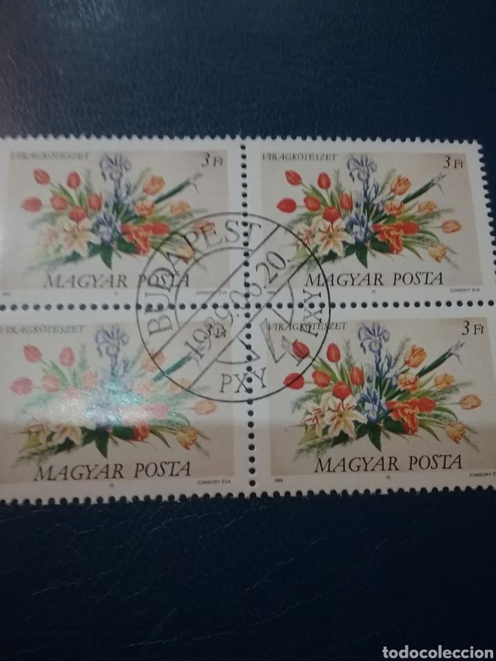 SELLOS DE HUNGRÍA (MAGYAR P.) MTDOS/1989/RAMOS/FLORES/DECORACIÓN/NATURALEZA/CENTROS/FLORA/PLANTAS/ (Sellos - Temáticas - Flora)