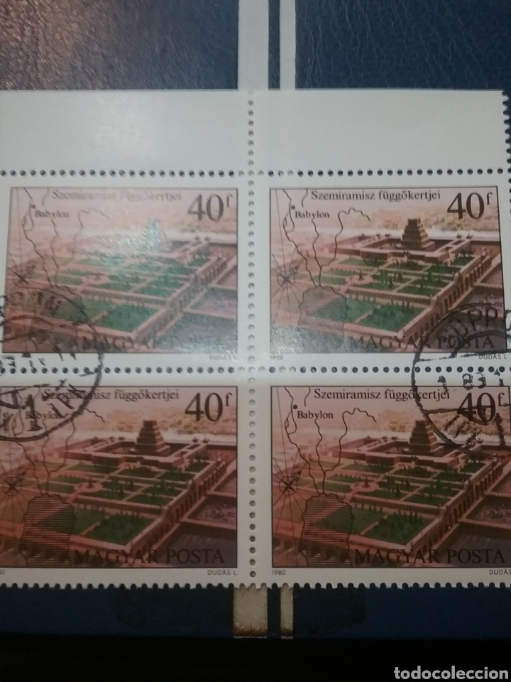 SELLOS DE HUNGRÍA (MAGYAR P) MTDOS/1980/BABILONI/ARTEMIS/ZEU/ALICARNAS/RODAS/ESCULTURAS/ARQUITECTURA (Sellos - Temáticas - Flora)