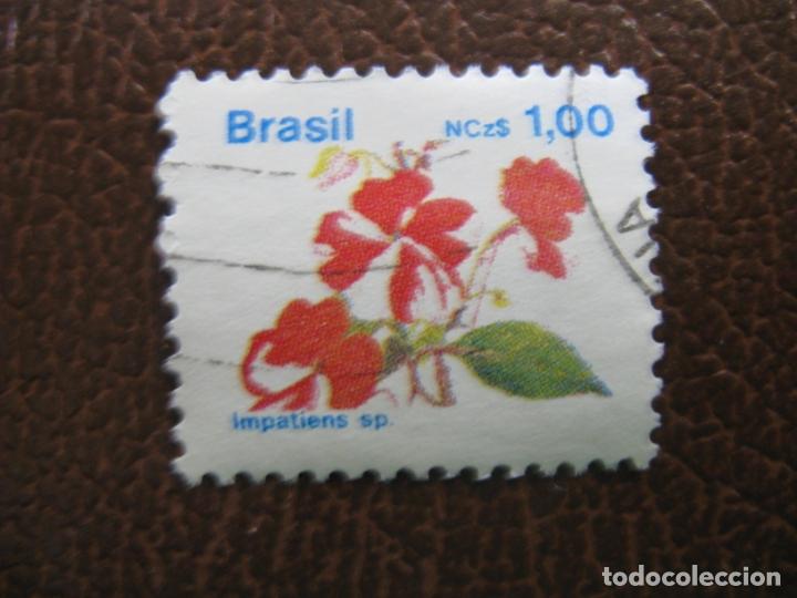 BRASIL,SELLO USADO, TEMA FLORA (Sellos - Temáticas - Flora)
