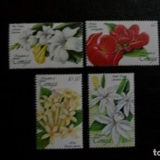 Sellos: FLORES-TONGA-1999-SERIE COMPLETA**(MNH). Lote 172034579
