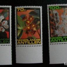 Sellos: FLORES DE LOS ARBOLES-ANTILLAS HOLANDESAS-1981-SERIE COMPLETA**(MNH). Lote 172034598