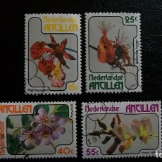Sellos: ORQUIDEAS-ANTILLAS HOLANDESAS-1978-SERIE COMPLETA/º/. Lote 172034605