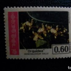 Sellos: ORQUIDEAS-ECUADOR-1975-0,60 C.**(MLH). Lote 172034745