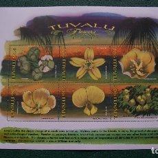Sellos: TUVALU-1999-FLORA-FLORES-MINIPLIEGO**(MNH). Lote 174172143