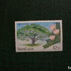 Sellos: FLORA-ARBOLES-ST.LUCIA-1984-10C.**(MNH). Lote 175487530