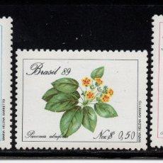 Sellos: BRASIL 1915/17** - AÑO 1989 - FLORA - FLORES Y PLANTAS. Lote 176748728
