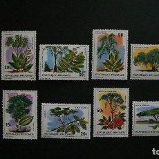 Sellos: FLORA-ARBOLES DE RWANDA-RWANDA-1979-Y&T 878/85**(MNH)-SERIE COMPLETA. Lote 177300955