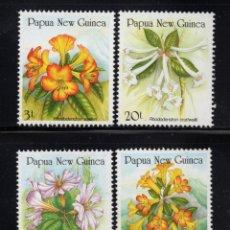 Sellos: PAPUA 579/82** - AÑO 1989 - FLORA - FLORES. Lote 177488969