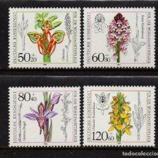 Sellos: ALEMANIA 1058/61** - AÑO 1984 - FLORA - FLORES - ORQUIDEAS. Lote 178793037