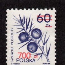 Sellos: POLONIA 3074** - AÑO 1990 - FLORA - FLORES Y FRUTOS. Lote 178959442