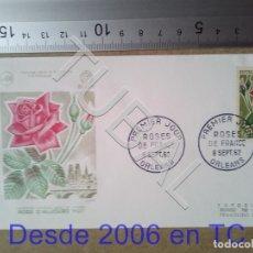 Sellos: TUBAL ROSA DE HOY FRANCIA SOBRE PRIMER DIA 1962 434 ENVIO 70 CENT 2019 T1. Lote 179327778