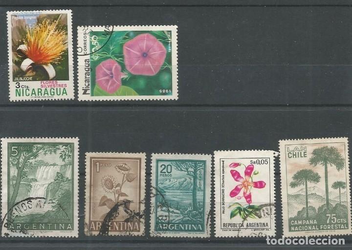 7 SELLOS FLORA AMERICA (Sellos - Temáticas - Flora)