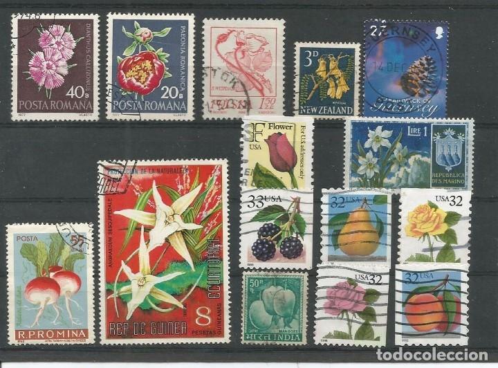 15 SELLOS FLORA VARIOS (Sellos - Temáticas - Flora)