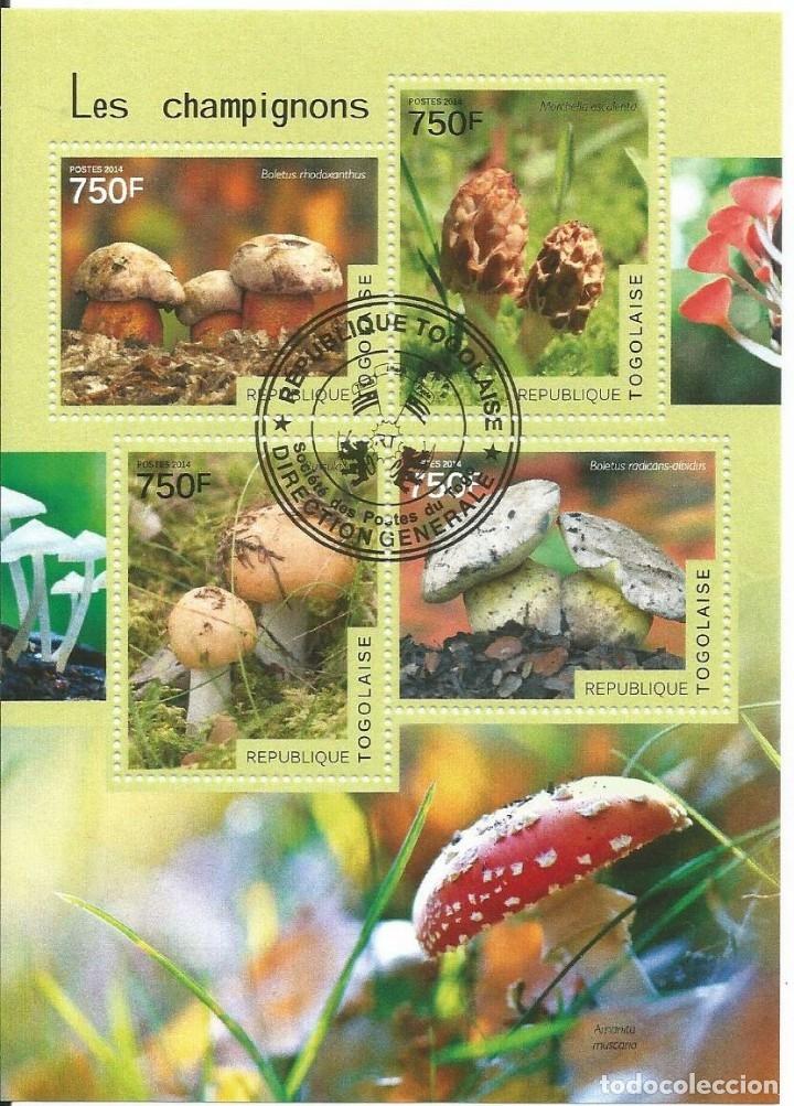 HOJA BLOQUE : TOGO SETAS (Sellos - Temáticas - Flora)