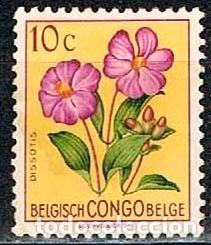 CONGO BELGA Nº 317, DISSOTIS MAGNIFICA, NUEVOS SIN GOMA (Sellos - Temáticas - Flora)