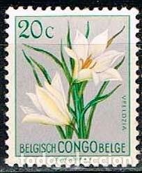 CONGO BELGA Nº 319, VELLOCIA ECUATORIAL, NUEVO SIN GOMA (Sellos - Temáticas - Flora)