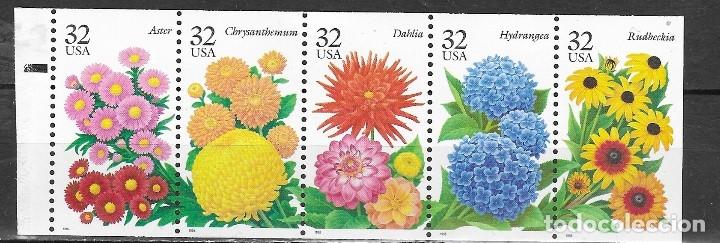 ESTADOUNIDO Nº 2401 AL 2405 (**) (Sellos - Temáticas - Flora)