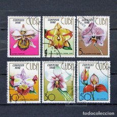 Sellos: CUBA 1986 ~ FLORES: ORQUIDEAS ~ SERIE USADA CTO LUJO. Lote 184015801